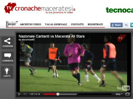 Cronache Maceratesi - Partita All Star vs Nazionale Cantanti